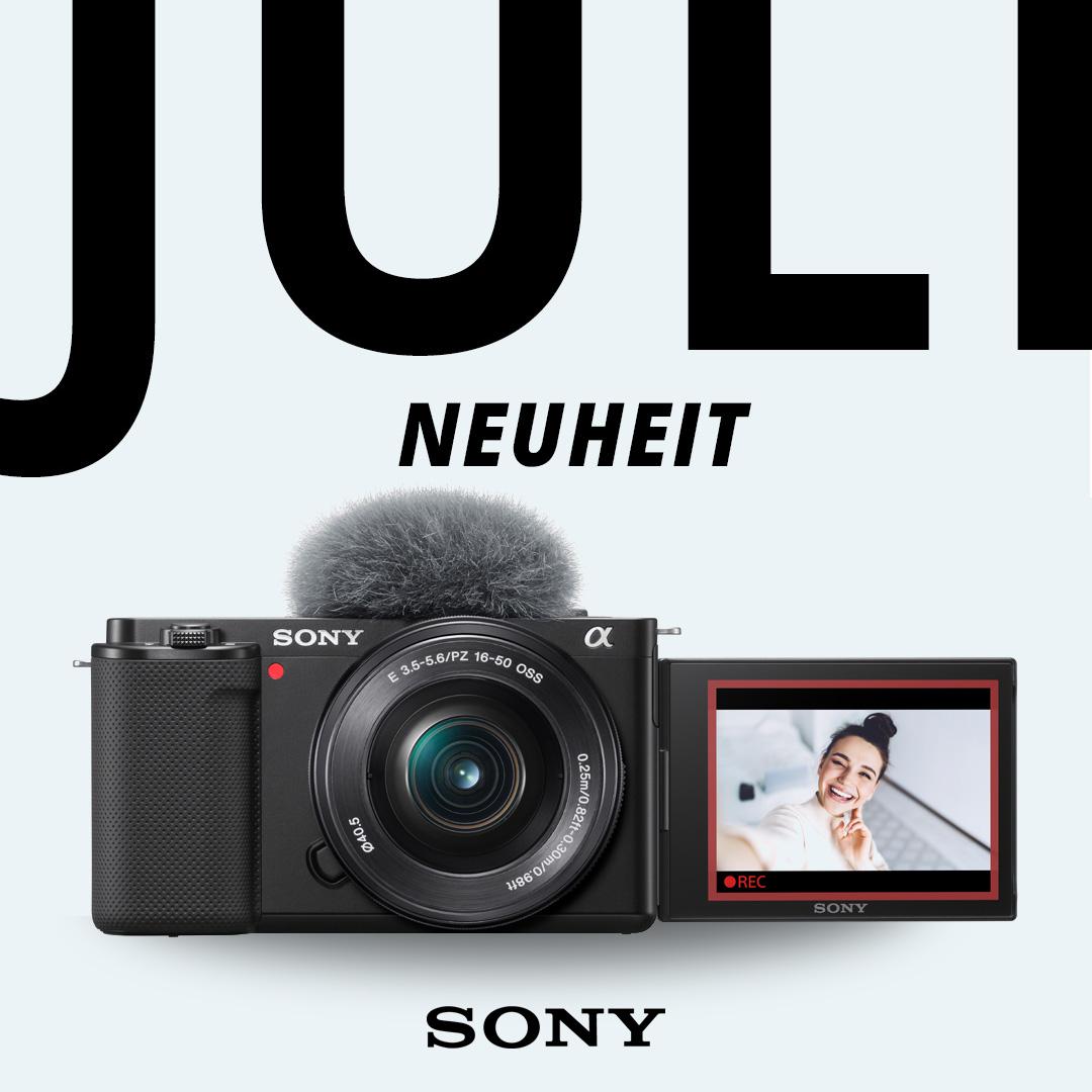 Die neue Sony ZV-E10 - perfekt für alle Vlogger und Content Creator.